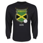 Jamaica Copa America 2015 Badge Long Sleeve T-Shirt (Black)