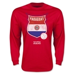 Paraguay Copa America 2015 Badge Long Sleeve T-Shirt (Red)