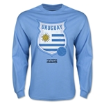 Uruguay Copa America 2015 Badge Long Sleeve T-Shirt (Sky Blue)