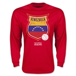 Venezuela Copa America 2015 Badge Long Sleeve T-Shirt (Red)