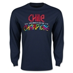 Chile Copa American 2015 Champions LS T-Shirt (Navy)