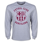 Barcelona Distressed LS T-Shirt (Gray)