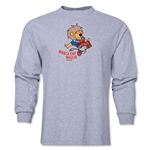 1966 FIFA World Cup Historical Mascot Men's Fashion T-Shirt (Grey)
