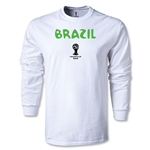 Brazil 2014 FIFA World Cup Brazil(TM) Core LS T-Shirt (White)