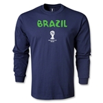 Brazil 2014 FIFA World Cup Brazil(TM) Core LS T-Shirt (Navy)