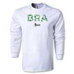 Brazil 2014 FIFA World Cup Brazil(TM) LS T-Shirt (White)