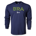 Brazil 2014 FIFA World Cup Brazil(TM) LS T-Shirt (Navy)