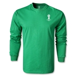 2014 FIFA World Cup Brazil(TM) Men's LS Emblem Fashion T-Shirt (Green)