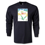 2014 FIFA World Cup Brazil(TM) Host City Poster LS T-Shirt (Black)