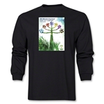 Curitiba 2014 FIFA World Cup Brazil(TM) Host City Poster Men's LS T-Shirt (Black)