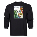 Cuiaba 2014 FIFA World Cup Brazil(TM) Host City Poster Men's LS T-Shirt (Black)