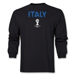 Italy 2014 FIFA World Cup Brazil(TM) Men's LS Core T-Shirt (Black)