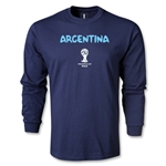 Argentina 2014 FIFA World Cup Brazil(TM) Men's LS Core T-Shirt (Navy)
