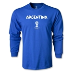 Argentina 2014 FIFA World Cup Brazil(TM) Men's LS Core T-Shirt (Royal)