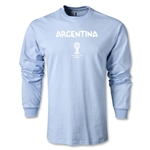 Argentina 2014 FIFA World Cup Brazil(TM) Men's LS Core T-Shirt (Sky)