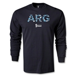 Argentina 2014 FIFA World Cup Brazil(TM) Men's LS Elements T-Shirt (Black)