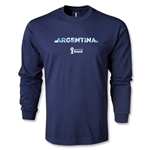 Argentina 2014 FIFA World Cup Brazil(TM) Men's LS Palm T-Shirt (Navy)