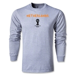 Netherlands 2014 FIFA World Cup Brazil(TM) Men's LS Core T-Shirt (Grey)