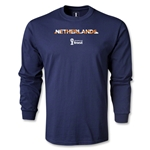Netherlands 2014 FIFA World Cup Brazil(TM) Men's LS Palm T-Shirt (Navy)