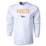 Netherlands 2014 FIFA World Cup Brazil(TM) Men's LS Palm T-Shirt (White)