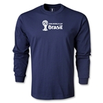 2014 FIFA World Cup Brazil(TM) Landscape LS T-Shirt (Navy)