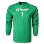 Germany 2014 FIFA World Cup Brazil(TM) Men's LS Core T-Shirt (Green)