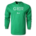 Germany 2014 FIFA World Cup Brazil(TM) Men's LS Elements T-Shirt (Green)