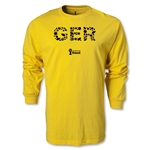 Germany 2014 FIFA World Cup Brazil(TM) Men's LS Elements T-Shirt (Yellow)