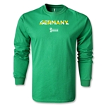 Germany 2014 FIFA World Cup Brazil(TM) Men's LS Palm T-Shirt (Green)
