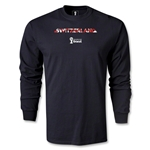 Switzerland 2014 FIFA World Cup Brazil(TM) Men's LS Palm T-Shirt (Black)