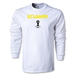 Ecuador 2014 FIFA World Cup Brazil(TM) Men's LS Core T-Shirt (White)