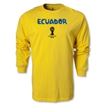 Ecuador 2014 FIFA World Cup Brazil(TM) Men's LS Core T-Shirt (Yellow)
