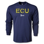 Ecuador 2014 FIFA World Cup Brazil(TM) Men's LS Elements T-Shirt (Navy)