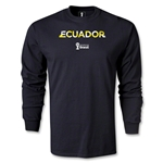 Ecuador 2014 FIFA World Cup Brazil(TM) Men's LS Palm T-Shirt (Black)