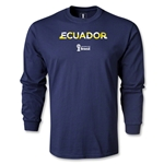 Ecuador 2014 FIFA World Cup Brazil(TM) Men's LS Palm T-Shirt (Navy)