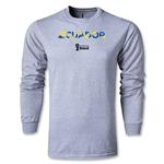 Ecuador 2014 FIFA World Cup Brazil(TM) Men's LS Palm T-Shirt (Grey)
