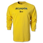 Ecuador 2014 FIFA World Cup Brazil(TM) Men's LS Palm T-Shirt (Yellow)