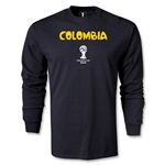 Colombia 2014 FIFA World Cup Brazil(TM) Men's LS Core T-Shirt (Black)