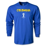 Colombia 2014 FIFA World Cup Brazil(TM) Men's LS Core T-Shirt (Royal)
