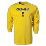 Colombia 2014 FIFA World Cup Brazil(TM) Men's LS Core T-Shirt (Yellow)