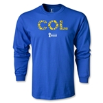 Colombia 2014 FIFA World Cup Brazil(TM) Men's LS Elements T-Shirt (Royal)