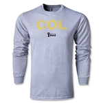 Colombia 2014 FIFA World Cup Brazil(TM) Men's LS Elements T-Shirt (Grey)