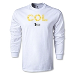 Colombia 2014 FIFA World Cup Brazil(TM) Men's LS Elements T-Shirt (White)