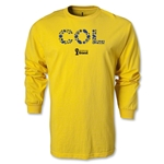 Colombia 2014 FIFA World Cup Brazil(TM) Men's LS Elements T-Shirt (Yellow)