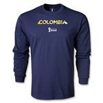 Colombia 2014 FIFA World Cup Brazil(TM) Men's LS Palm T-Shirt (Navy)