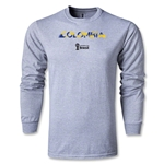 Colombia 2014 FIFA World Cup Brazil(TM) Men's LS Palm T-Shirt (Grey)