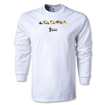 Colombia 2014 FIFA World Cup Brazil(TM) Men's LS Palm T-Shirt (White)