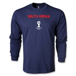 South Korea 2014 FIFA World Cup Brazil(TM) Men's LS Core T-Shirt (Navy)