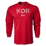 South Korea 2014 FIFA World Cup Brazil(TM) Men's LS Elements T-Shirt (Red)