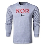 South Korea 2014 FIFA World Cup Brazil(TM) Men's LS Elements T-Shirt (Gray)